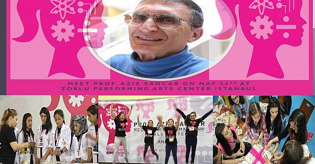 Türkiye'nin Dört Bir Yanından Kız Öğrenciler Prof.Aziz Sancar İle Buluşuyor
