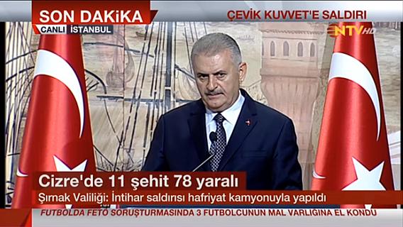 """Başbakan Binali Yıldırım,""""Bu alçaklara her türlü cevabı vereceğiz"""""""