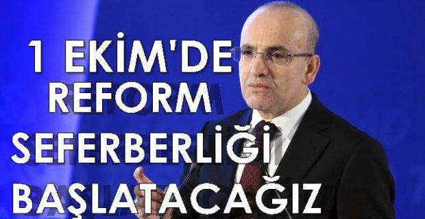 """Başbakan Yardımcısı Mehmet Şimşek: """"1 Ekim'de yeni reform seferberliği başlatacağız"""""""