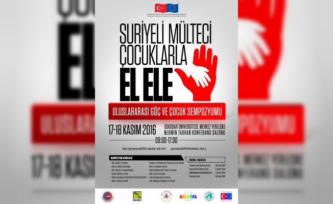 Suriyeli çocuklarla el ele sempozyumu, 17 Kasım'da yapılacak