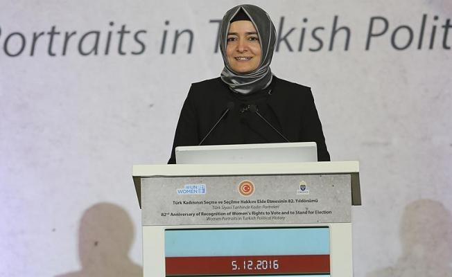 """Aile Bakanı Kaya;""""Yakın gelecekte kadının temsil oranı yüzde 50 olacak"""""""
