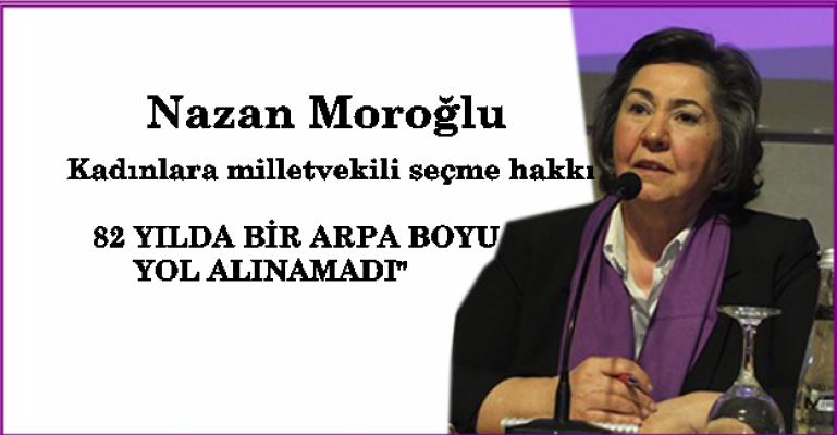 """İKKB Koordinatörü Nazan Moroğlu;""""82 yılda bir arpa boyu yol alınamadı"""""""