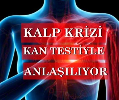 Kalp krizi riski kan testiyle anlaşılıyor