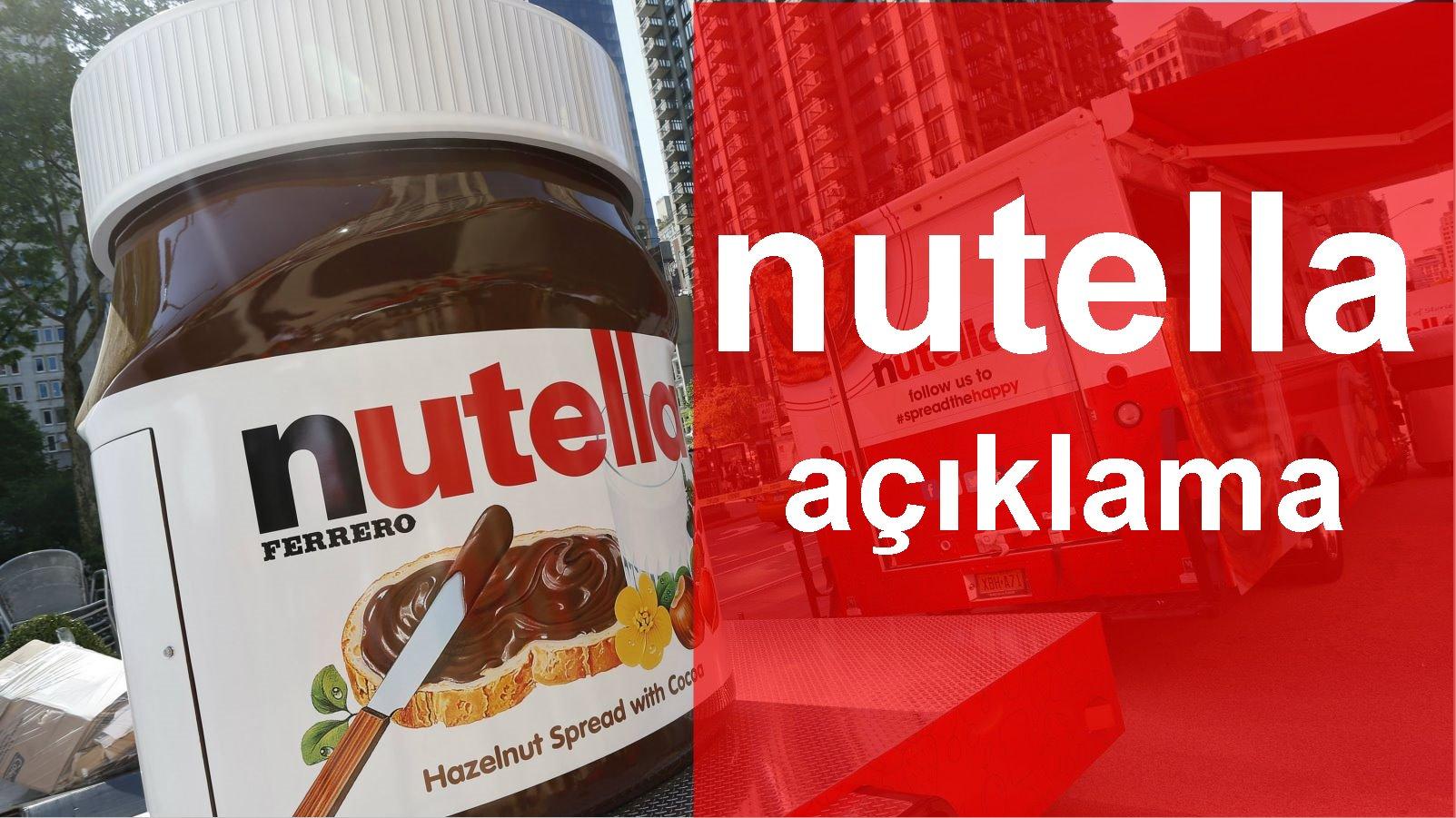 Nutella: İddialar asılsız, Palm yağı ile ilgili endişe verici durum yok
