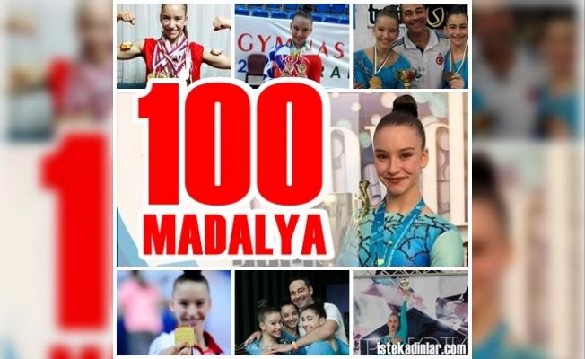 """Altın Kız Ayşe Begüm Onbaşı, Bulgaristan'daki 100'üncü madalyasıyla """"DALYA"""" dedi"""