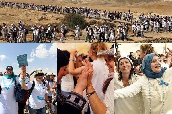 Binlerce Filistinli ve İsrailli kadın barış için birlikte yürüdü