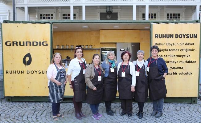 7 kadın şefden Ruhun Doysun'da artan yemekler