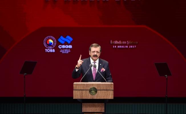 """TOBB Başkanı Hisarcıklıoğlu;""""Bu iş olur dedik, bugün oldu"""""""