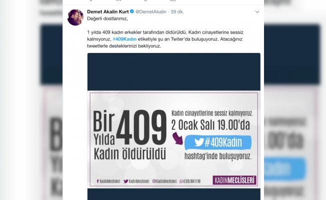 Demet Akalın'dan #409Kadın eylemine destek