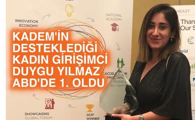 KADEM'in desteklediği kadın girişimci Duygu Yılmaz, zeytin projesiyle ABD'de birinci oldu