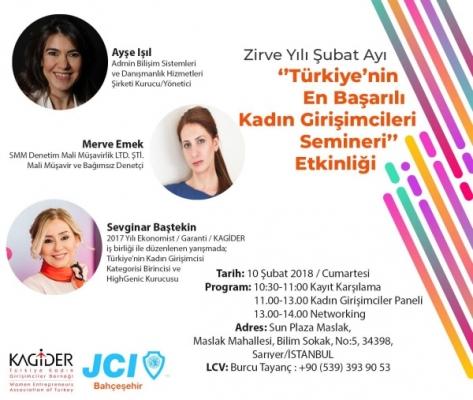 Türkiye'nin Başarılı Kadın Girişimcileri Semineri 10 Şubat'ta