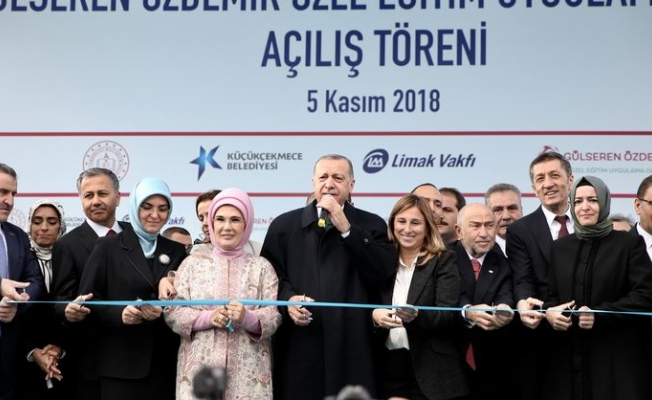 Cumhurbaşkanı Erdoğan, Gülseren Özdemir Özel Eğitim Uygulama Okulu'nu Açtı