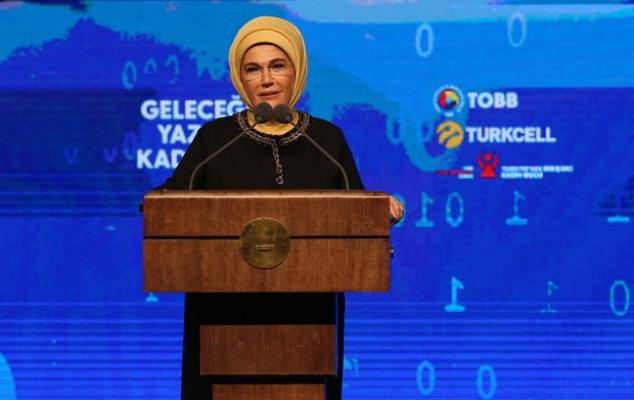 """Emine Erdoğan, """"Kadınlarımızı teknoloji dünyasına davet ediyorum"""""""