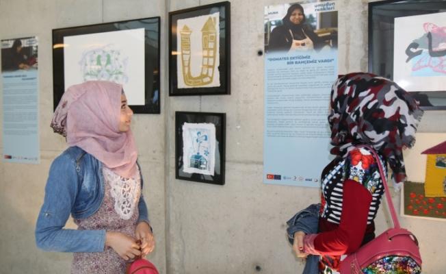 """Suriyeli kadınlardan """"Umudun Renkleri"""""""