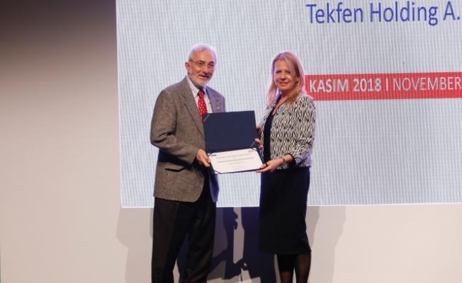 """Tekfen Holding'e """"Kadınlarla Güçlendirilmiş Yönetim Kurulu""""Ödülü"""