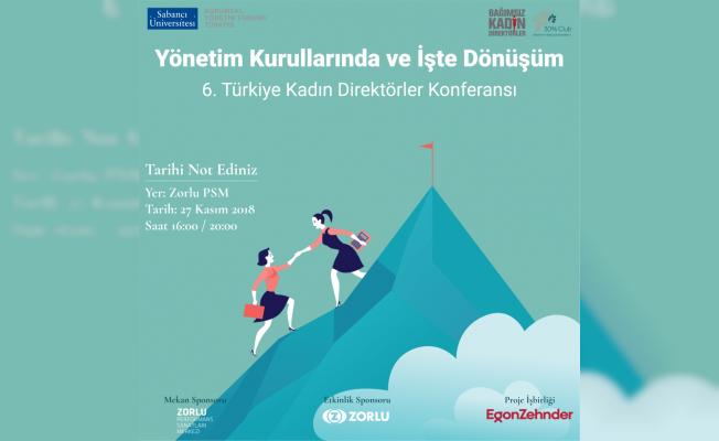 Türkiye Kadın Direktörler Konferansı 27 Kasım'da
