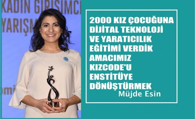 """KızCode Kurucusu Müjde Esin, """"2000 kız çocuğuna dijital teknoloji ve yaratıcılık eğitimi verdik"""""""