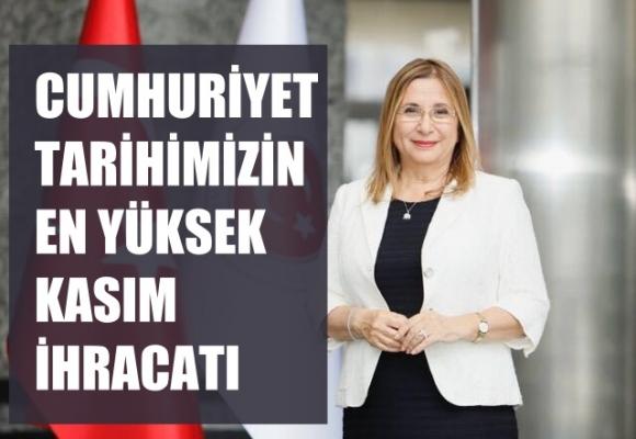 """Ruhsar Pekcan: """"Kasım'da ihracatımız 15,5 milyar dolarla Cumhuriyet tarihinin en yüksek ihracatı"""""""