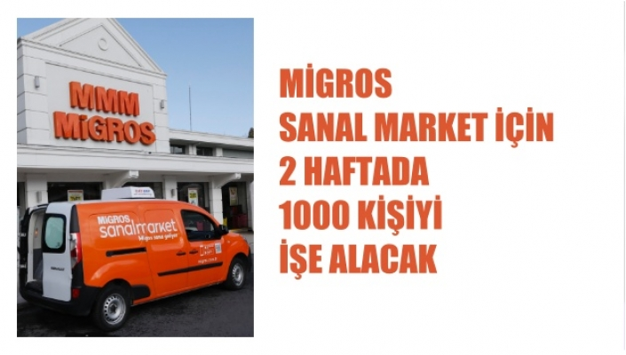Migros Sanal Market Siparişlerine Yetişmek İçin 1000 Kişiyi İşe Alacak