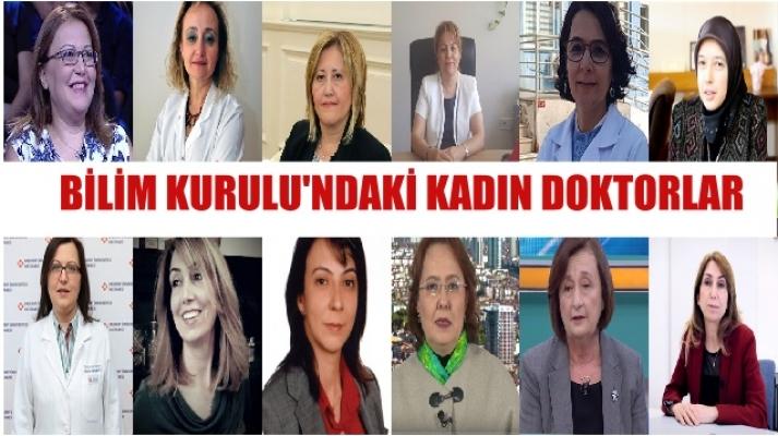 Türkiye Corona Virüs Bilim Kurulu'ndaki Kadın Doktorlar