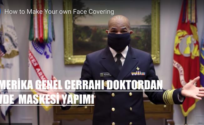 CDC, Evde tişört, havlu veya atkıyla maske yapılabilir
