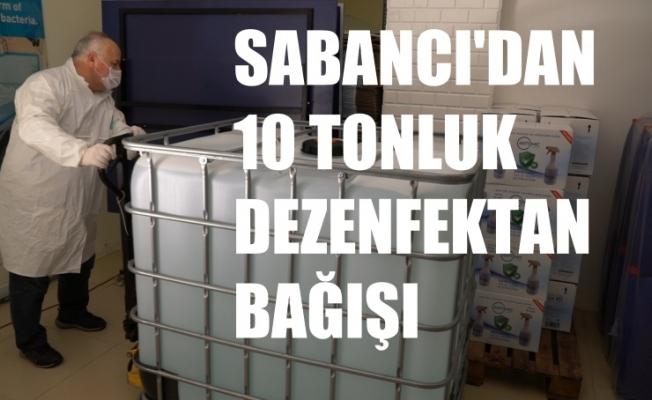 Sabancı Holding'den Covid-19 Mücadelesine 10 tonluk Dezenfektan Bağışı