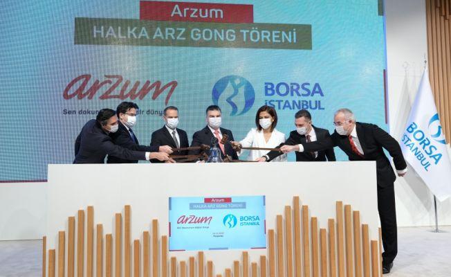 Borsa İstanbul'da Gong Bu kez Arzum İçin Çaldı