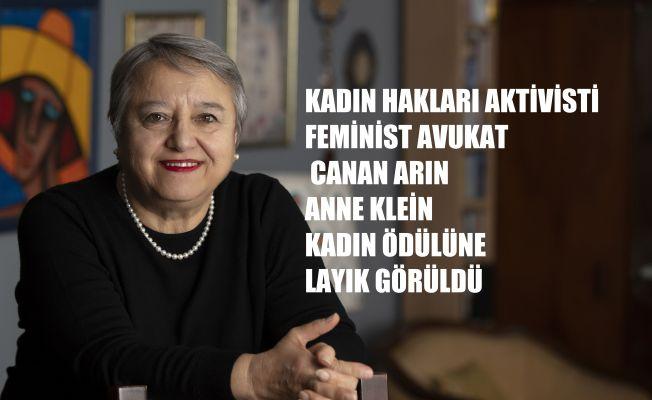 """Kadın Hakları Aktivisti Feminist Avukat Canan Arın'a """"Anne Klein Kadın Ödülü"""""""