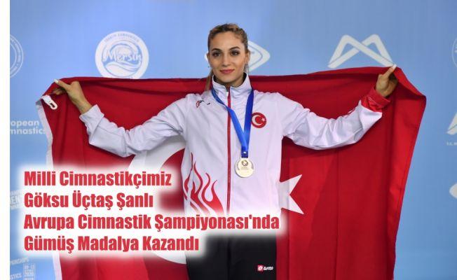 Milli Cimnastikçimiz Göksu Üçtaş Şanlı Avrupa İkincisi Olarak Gümüş Madalya Kazandı