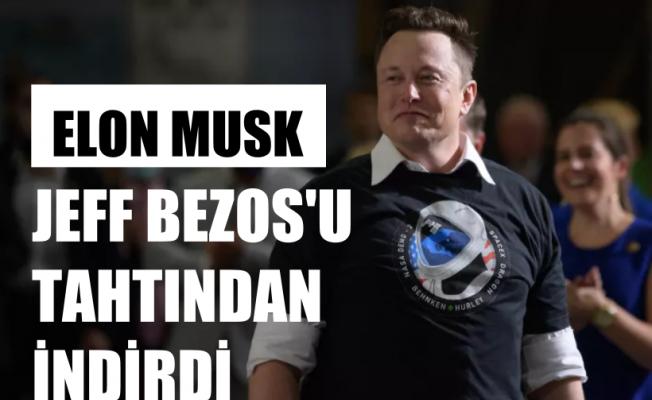 Elon Musk, 1 Milyar Dolar İle Jeff Bezos'u Tahtından İndirdi