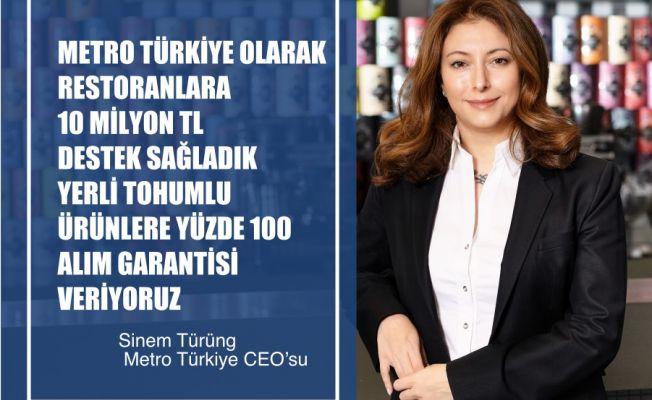 """Metro Türkiye CEO'su Sinem Türüng, """"Covid-19 Döneminde Restoranlara 10 Milyon TL Destek Sağladık"""""""