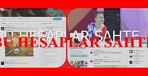 Ayşe Begüm Onbaşı'nın  Twitter ve facebook hesapları sahte