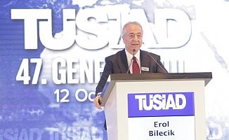 """TÜSİAD Başkanı Erol Bilecik;""""Daha güçlü Türkiye için koşmamız lazım"""""""