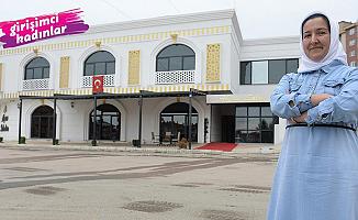 Kadın girişimci Giresunlu Elif Bayram, hem fırın hem de düğün salonu işletiyor
