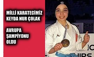 Milli Karatecimiz Keyda Nur Çolak, Avrupa şampiyonu oldu