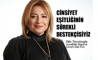 """Filiz Tiryakioğlu: """"Cinsiyet eşitliğinin sürekli destekçisiyiz"""""""