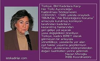 """Nazan Moroğlu, """"Türkiye, kadınlara karşı ayrımcılığı kaldıran CEDAW taahhüdüne uymalı"""""""