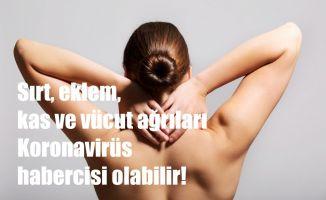 Sırt, eklem, kas ve vücut ağrıları Koronavirüs habercisi olabilir!