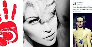 """Madonna'dan Türkiye'ye:""""Sizin terörünüz bizim terörümüz, şiddete son"""""""