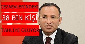 """Adalet Bakanı Bekir Bozdağ'dan müjde;""""Cezaevlerindeki 38 bin kişi tahliye olacak"""""""