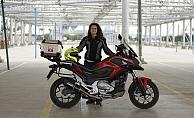 Kadın akademisyen motosikletiyle Asya turuna çıktı