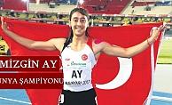 Rüzgarın kızı Mizgin Ay, dünya şampiyonu oldu