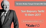 İbrahim Bodur Sosyal Girişimcilik Ödülü için son başvuru tarihi 13 Ekim