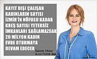 """Sanem Oktar;""""4 milyon kadın kayıt dışı çalıştırılıyor, teşvik verilmezse 20 milyon kadın evde oturmaya devam edecek"""""""