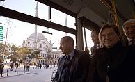 Cumhurbaşkanı, Temsa'nın elektrikli otobüsünü test etti