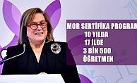 """Güler Sabancı;""""Mor Sertifika Programımız, 10 yılda 17 ilde 3500 öğretmene ulaştı"""""""