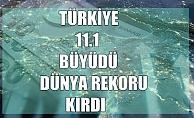 Türkiye, 11.1 büyüdü dünya rekoru kırdı