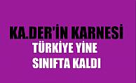 """KA.DER'in  8 Mart karnesi; Türkiye Yine Sınıfta Kaldı: """"Olağanüstü"""" Eşitsizlik Devam Ediyor"""