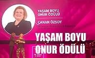 Canan Özsoy, 'Yaşam Boyu Onur' ödülüne layık görüldü