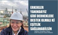 """QTM Havacılık Genel Müdürü Gökben Aksoy """"Erkekler Yanındayız gibi derneklere destek olmalı ki eşitlik sağlanabilsin"""""""